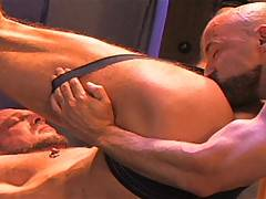 If hardcore, rough and wild sex is your idea of fun, you're going to love Hank and Rocky's one-on-one in the ring. Grunting more like animals than men and sho...