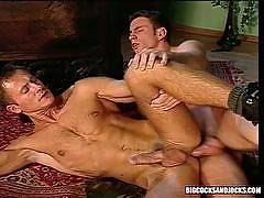 There's something sexy about a big muscular stud with a well hung cock. These dreamboys are seen in sexy gay action as they're fucking ass and blowing loads of cum all over. You can see these sexy gay studs in action as they are seen in hardcore gay anal