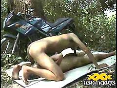 Asian boyfriends sucking cock and getting in some horny oral gay sex