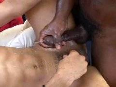 Big black cock drilled choco twink in narrow ass