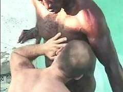 Big black gay thug fucks white dude