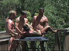 Dean, Derrick, Martin, Brendan and Tamas star in one of the most lavish groups scenes ever filmed. The five guys are hanging out on a sunlit deck in Sonoma Wine...