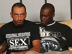 Strong Interracial Gay Couple Blowjob Assfuck Jerkxxx