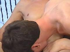 Horny gay lad gets drunk and lures his friend into tasting his first cock and ass fuck
