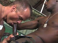 Jay Mack is matched up with Aaron Summers for a game of pool, which leads quickly to dick sucking and fucking. Jay is a tight-bodied black man with a nice fat c...