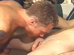 They've got thousands of movies of gay hardcore group sex that you can download once and keep forever. Watch the boys engage in group anal, oral, and sticky cumshot action.