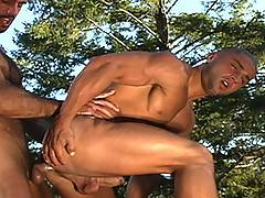 The sun is setting in California wine country. All-American super stud JD Kollin is making-out with the tres-hot Francois Sagat on the edge of a beautiful fount...