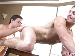 Check out this sexy blonde athletic stud in exclusive videos now
