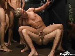 It's the very first gay porn site of it's kind. It's not just a porn site where you can watch guys play and fuck, but you can actually interact with the guys inside! There is a ton of the gay party lifestyle inside in the most exclusive parties from all a