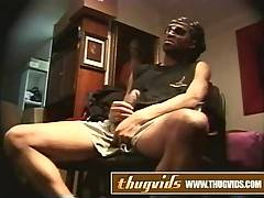 Big black cock jerking off