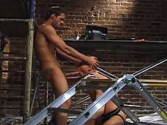 Michael Brandon is readying some bricks as tall, lanky and military-shaved Ryan Lexington descends to the scaffolding to take a break...the scene is set and the...