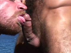 This sexy oral scene stars two of our biggest names and hairiest men -  Steve Cruz and Jake Deckard. Steve and Jake are on a rocky cliff overlooking the ocean. ...