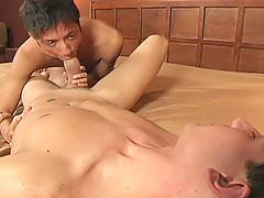 Slutty twink rides a big cock and moans like an animal
