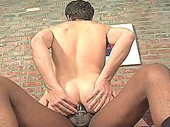 Interracial Gay Threesome Blowjob Assfucking Cumxxx