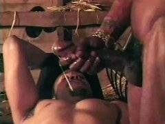 Black cowboys with huge cocks fucking in hayloft