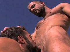 Beards of various thickness and style, and nicely hairy bods will grab your attention from the get go in this desert orgy. Steve Cruz and Jake Deckard are rudel...