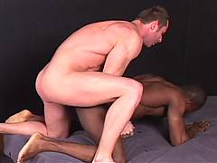 The action all starts with popular performer Marco Paris getting head and giving a rim job before plunging his fat, uncut cock into Calvin's slick hole. Joinin...