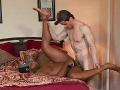 Hot gay studs of different races are gettin' nasty with each other. If the sex is good and everyone cums, what does skin color matter? These white boys are getting a good ass pounding by some huge black dick like they've never experienced before. Really h