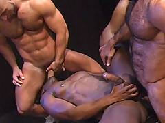 Three hot men, working their bodies with heavy weights.. A bench press... Dumbbells.... Sweat.... Men.... Arousal!!! The scene opens with the sounds of the work...