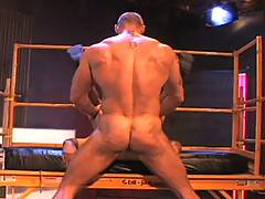 The incredibly handsome Hank and Latin, beefy bulldog Rocky start with what could be considered Olympic-class spit swapping in this video. That builds to blow j...