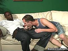 Interracial Gay Threesome Assfucking  Facialsxxx