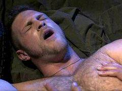 Muscled military dudes oral and anal pleasure