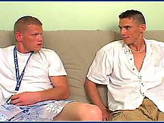 Straight military boy cums on his friends face