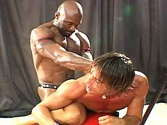 After a quick shower, Jeff develops an itch up his ass that he thinks can only be scratched by the Jeff Palmer dildo. That is until Flex Deon Blake shows up wit...