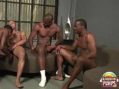 Hot gay ebony stallions getting it on in some sexy group action. All of these well hung black guys are fucking some ass and sucking dick!